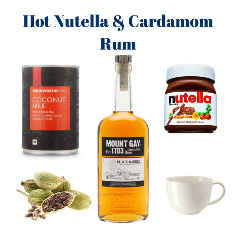 Hot Nutella and Cardamom Rum