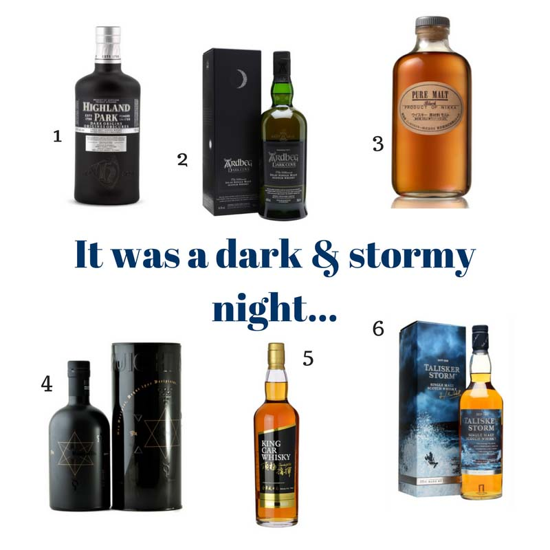 It was a dark and stormy night whisky to savour during a storm