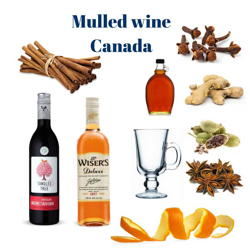 Mulled wine Canada ingredients