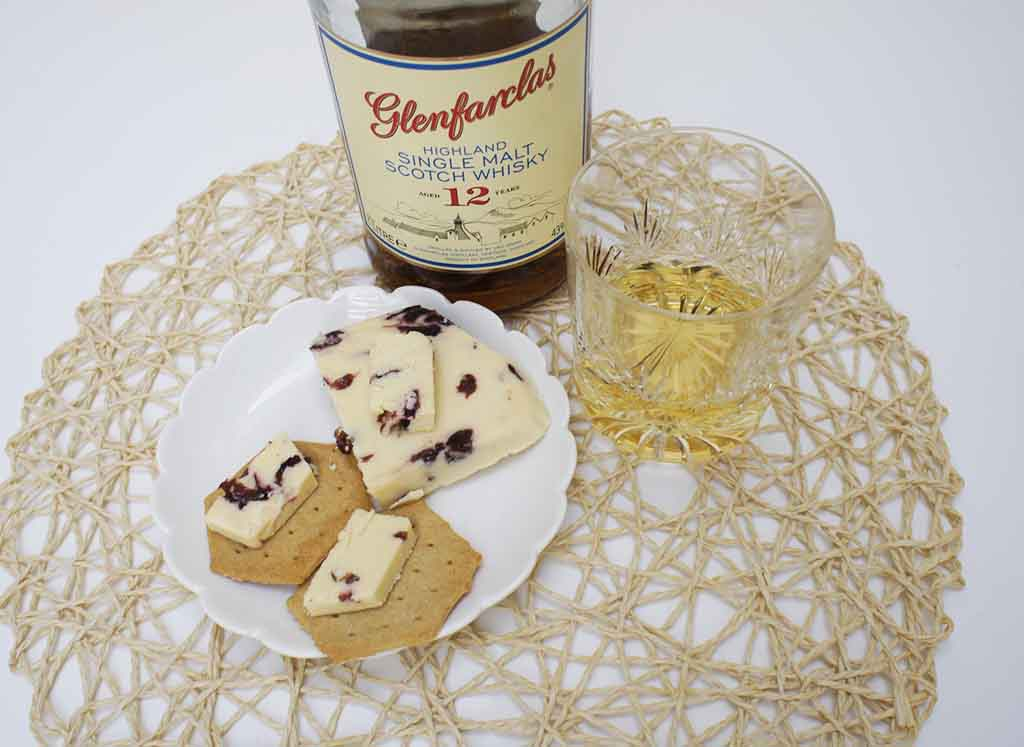 Glenfarclas 12yo Whisky and Wensleydale cheese pairing
