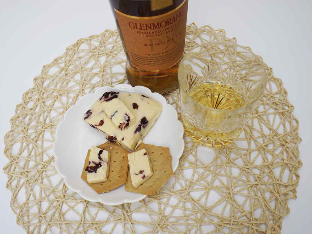 Glenmorangie Sonnalta PX Whisky and Wensleydale cheese pairing