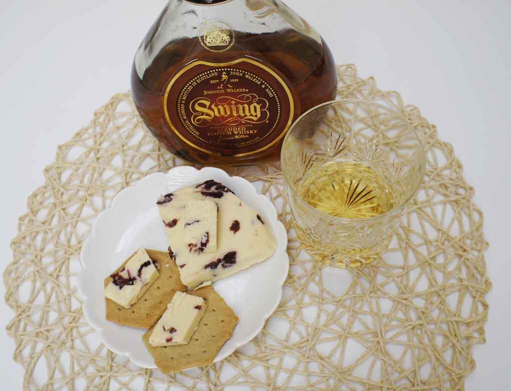 Johnnie Walker Swing Whisky and Wensleydale cheese pairing