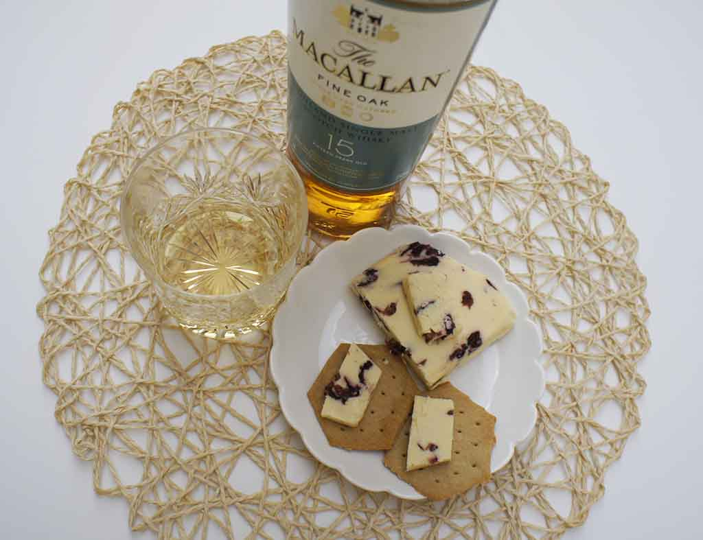 Macallan Fine Oak 15 yo Whisky and Wensleydale cheese pairing