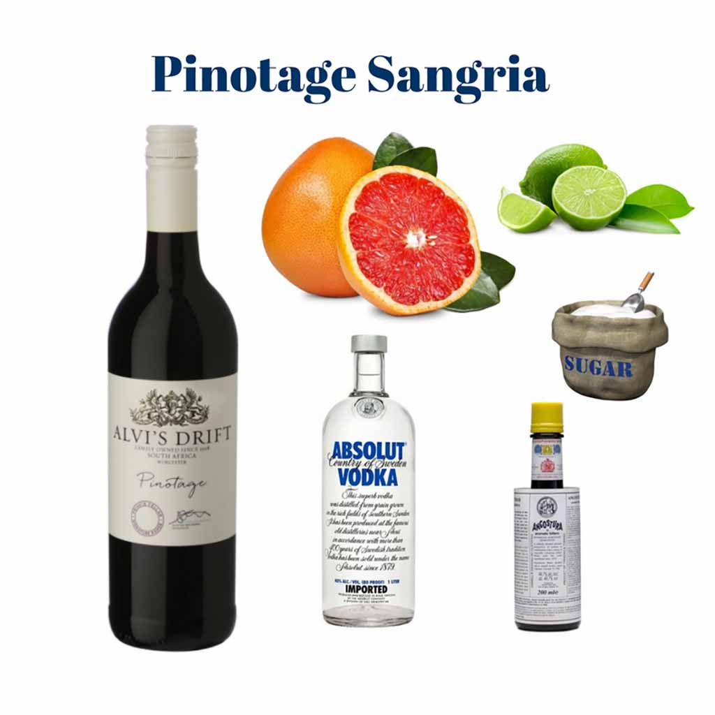 Pinotage Sangria ingredients