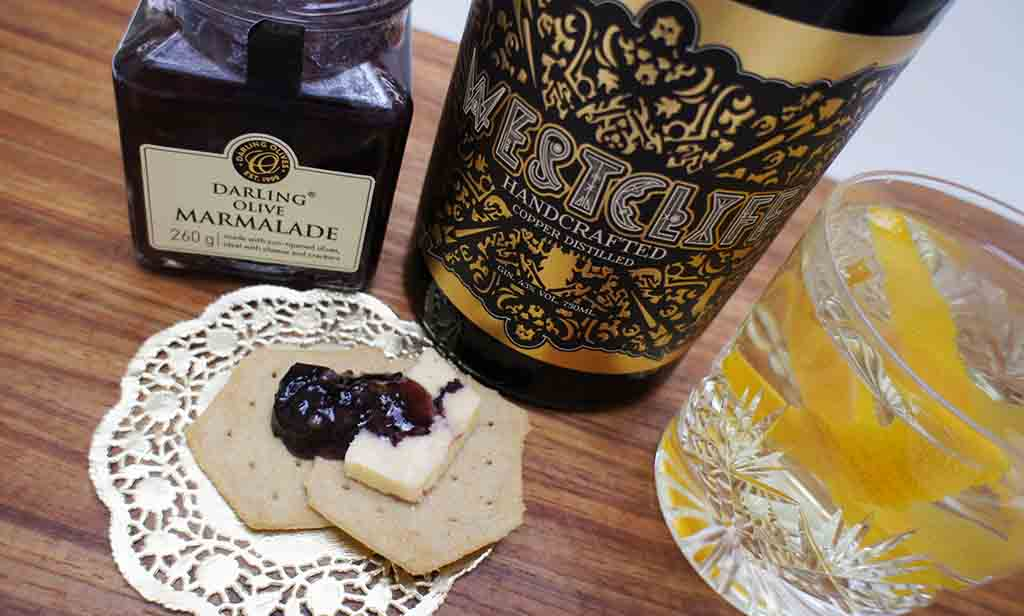 gin and olives Westcliff Gin Darling Olive Marmalade