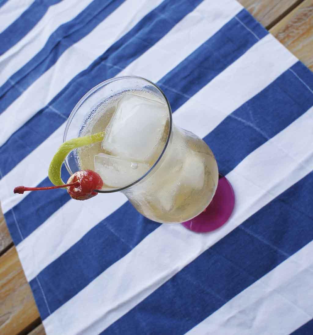 Sandton Iced Tea cocktail with blue