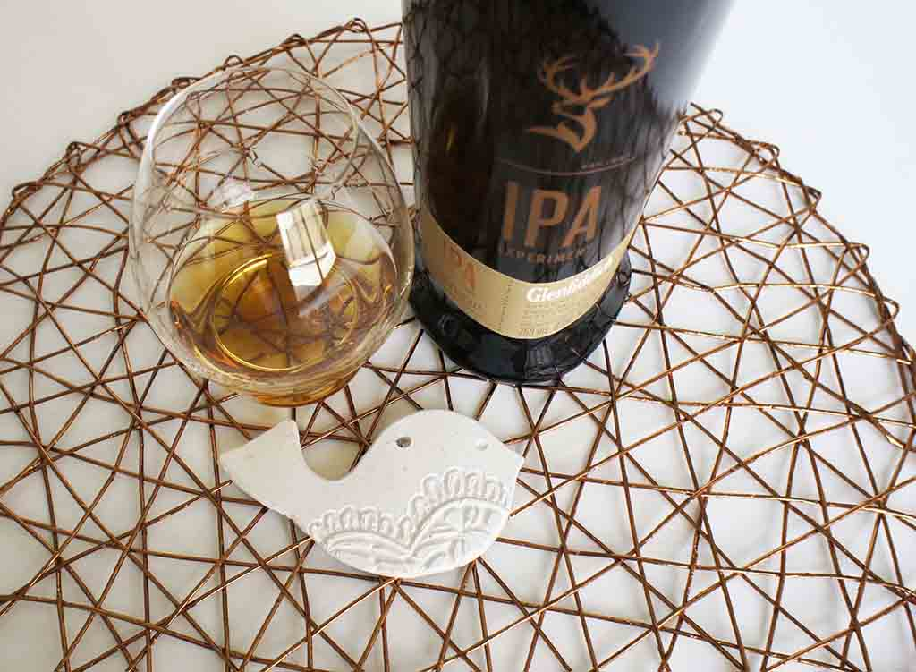 Glenfiddich IPA experiment whisky with glass