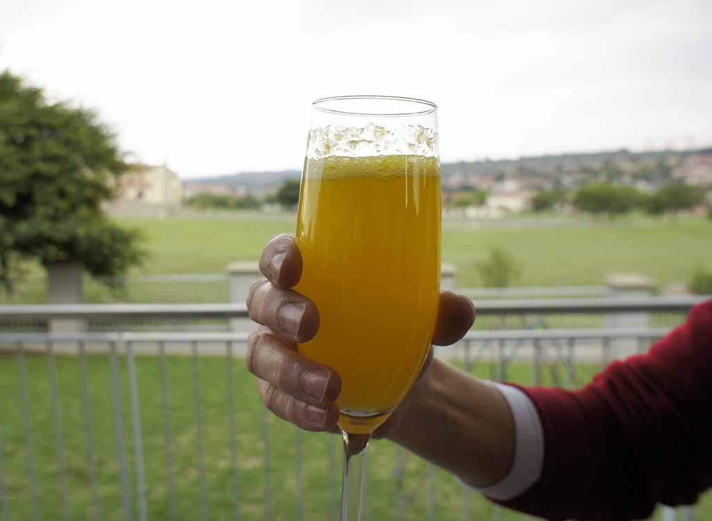 Ciroc Mango Mimosa cocktail
